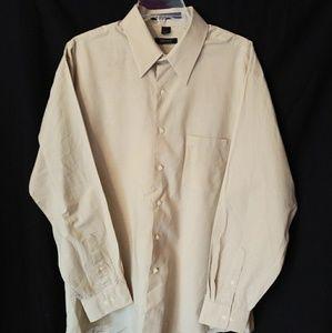 DKNY Nice Beige Dress Shirt Men's XL 17-34/35 NWT